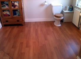 Photo of Gary Buck Handyman laminate flooring job.