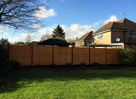 Photo of Gary Buck Handyman fencing job.
